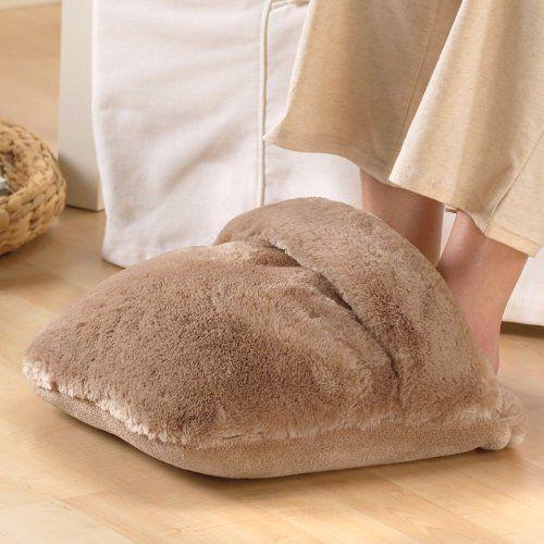 Brookstone offer the best nap Luxe Massaging Foot Warmer.