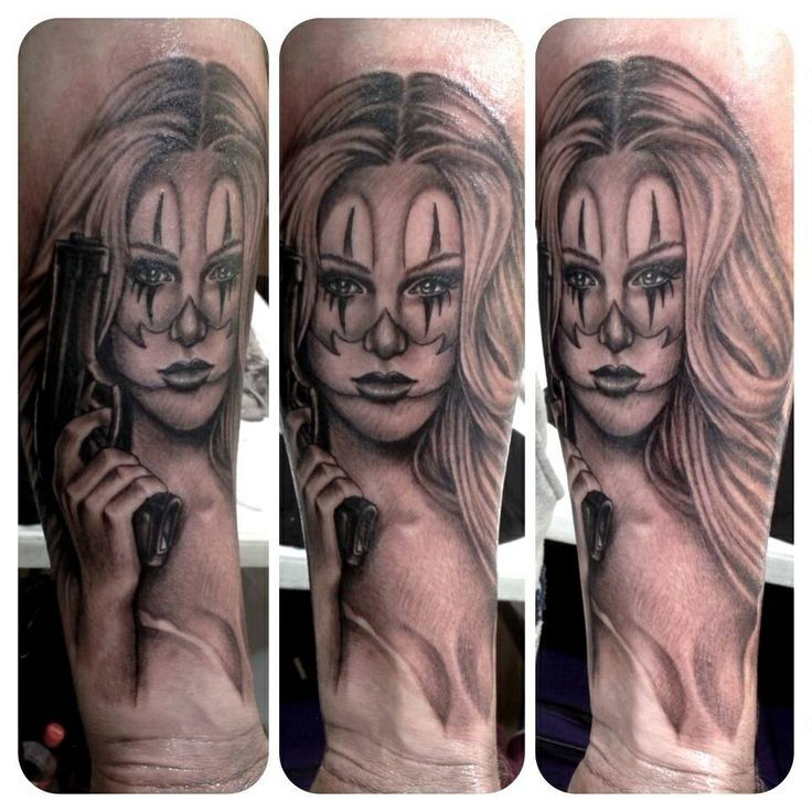 Clown Girl Tattoo Meaning: 15 Best Clown Face Tattoos Images On Pinterest