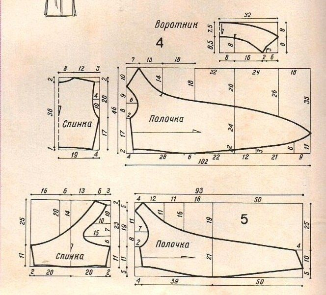 Выкройка топа с завязками / Выкройки ретро / ВТОРАЯ УЛИЦА