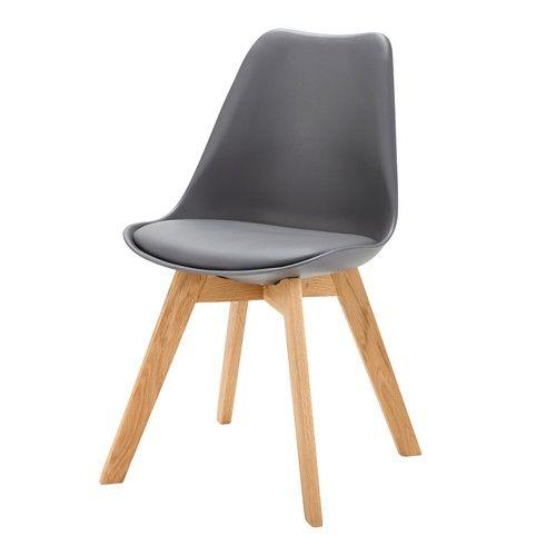 Ice - Antracietgrijze Scandinavische stoel