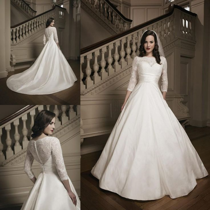 Vestidos De Novia For Muslim Womens Brides Hot Sale Cheap A-Line Bridal Ball Gowns Wedding Dresses Sheer Crew Neck Long Sleeve Backless 2015 Online with $130.9/Piece on Sarahbridal's Store | DHgate.com
