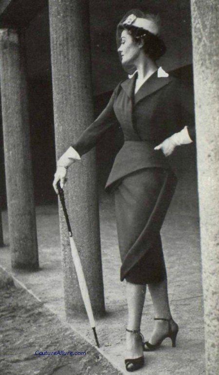 Suit by Lanvin-Castillo, 1951.