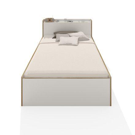 Müller Möbelwerkstätten - Nook Einzelbett, 100 cm , CPL weiß Weiß T:103 H:80 B:223