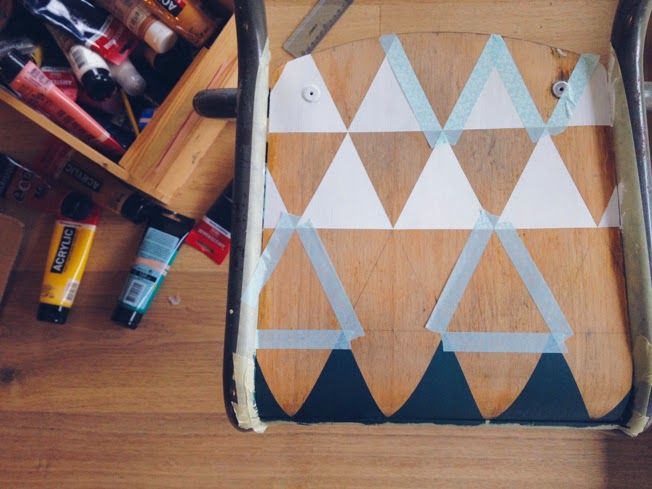 WE ARE FAMILY: DIY : CUSTOMISER UNE CHAISE D'ECOLIER