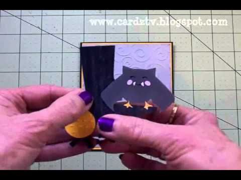 "▶ ""HANG IN THERE!"" CRICUT HALLOWEEN CARD - YouTube"