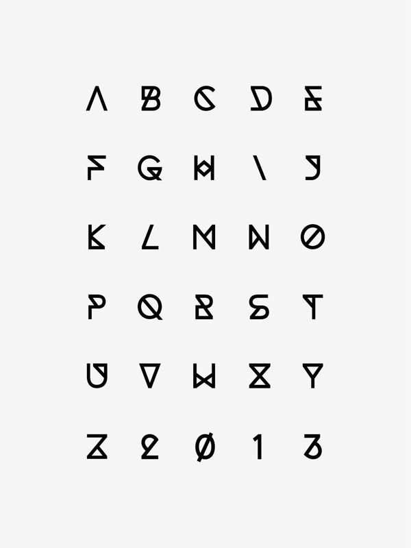 These awesome geometrical font is perfect to DIY for a cute print.