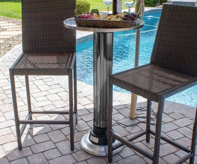 Indoor/Outdoor Heat Lamp Table   DudeIWantThat.com