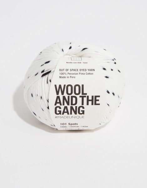 Shiny happy cotton from Wool and the gang in 101 spots. £10.50 a skein » need this yarn in my life!
