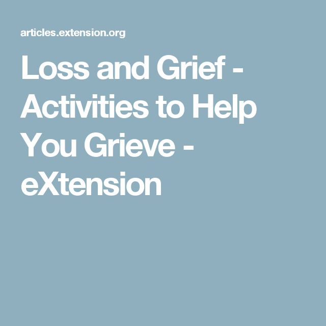 activities for adult grief groups