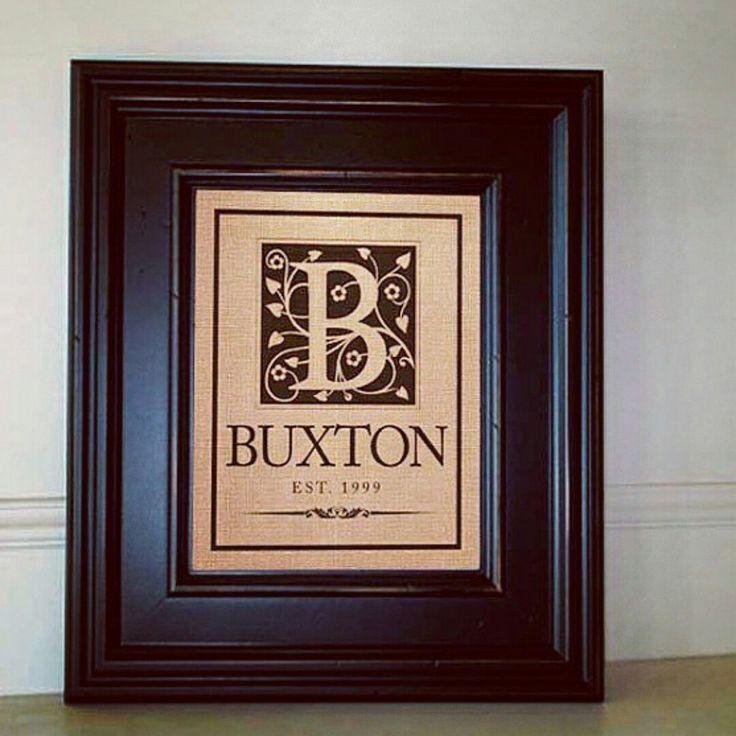 Custom Monogram Burlap Prints