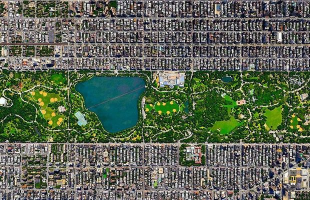 Central Park, Nova York, Estado Unidos (Foto: Divulgação/Daily Overview)