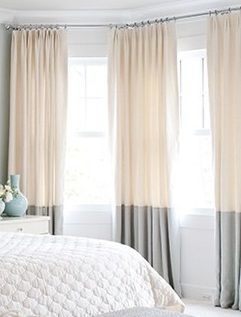 Two tone dip dye some curtains for the living with the tips as the main color from the dining! Paint stokes not ombré