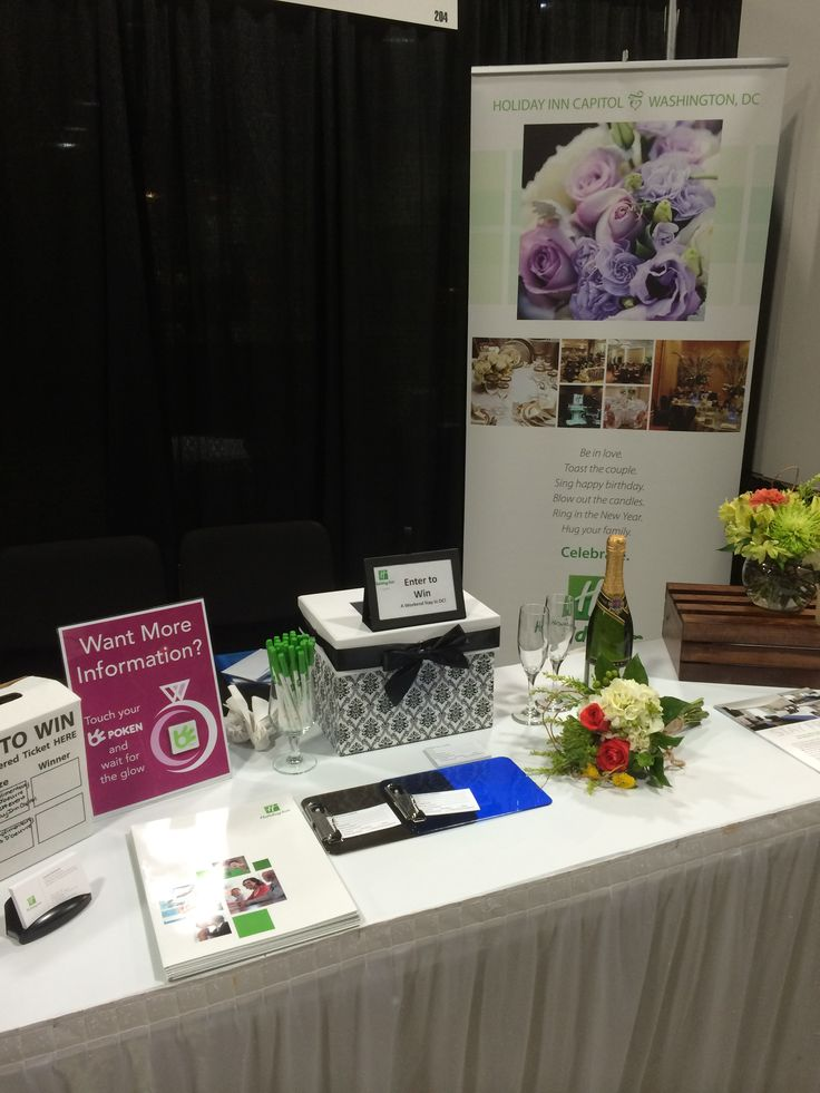 Holiday Inn Capitol exhibit table at the Wedding Experience Bridal Show 2014 at the Washington Convention Center. It was so much fun meeting awesome and excited couples! #wedexperience #holidayinncapitol