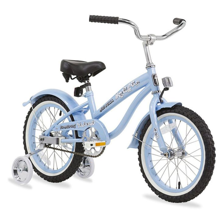 Firmstrong Bella Girls 16 in. Single Speed Bicycle with Training Wheels - 15138