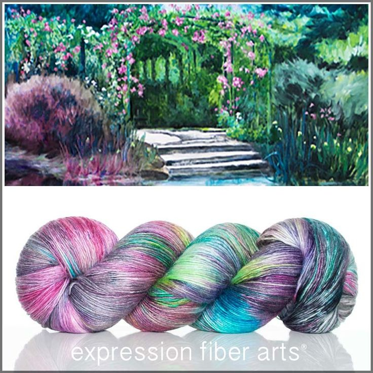 Giverny - Pearlescent Fingering yarn 550 yd by Expression Fiber Arts
