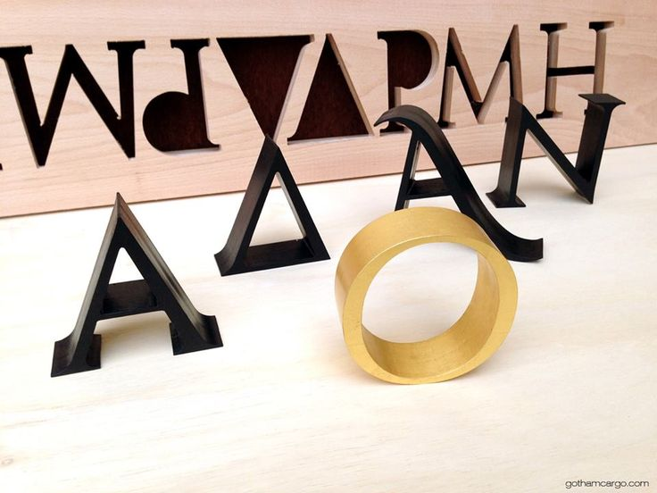 "Another logo&sign design came out from our lab for the old-new Αναδρομή Bar 1982 . Real Oak wood and 23 carat gold plated ""O"". We would like to thank George A. Sigrimis and Dimitris for trusting us!"