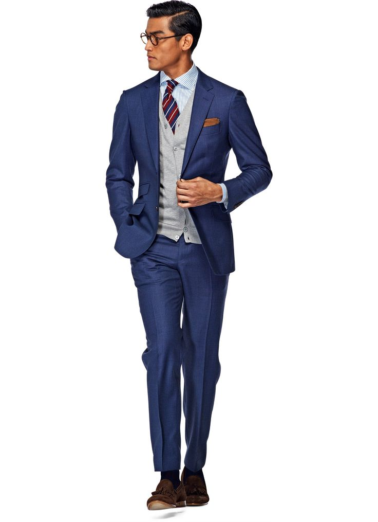 Suit Blue Plain Sienna P3789i | Suitsupply Online Store