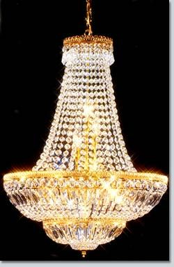 Empire Bell Large Crystal Chandelier