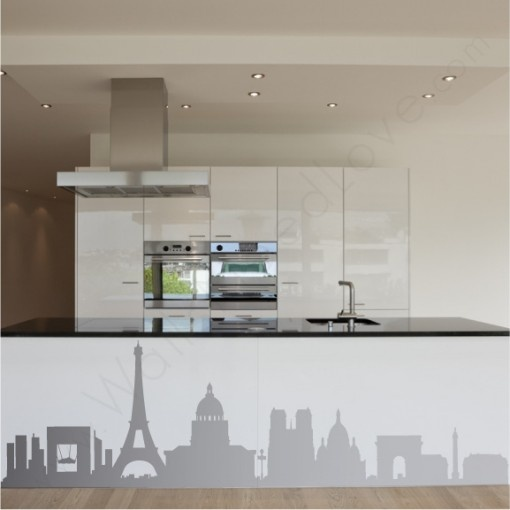 48 best paris city wall decals stickers images on With best brand of paint for kitchen cabinets with city skyline wall art