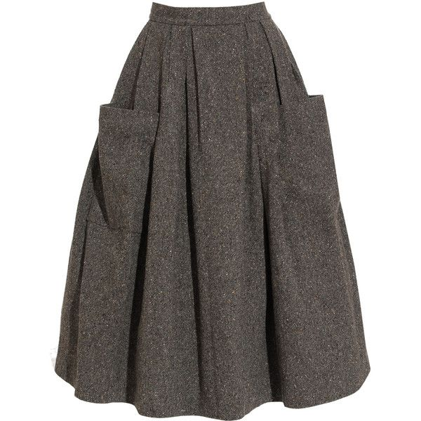 Ashish Full Skirt with Large Pockets (£405) ❤ liked on Polyvore featuring skirts, bottoms, faldas, jupes, ashish, layered skirt, high waisted fitted skirts, full pleated skirt, gray skirt and high waisted pleated skirt