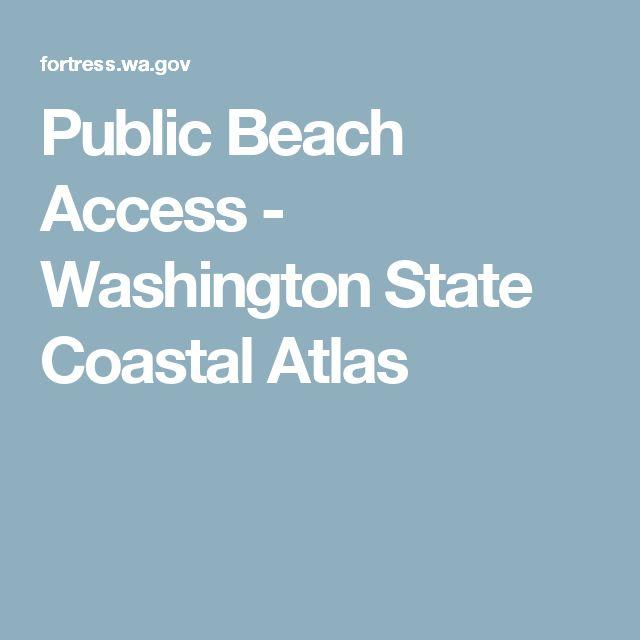 Public Beach Access - Washington State Coastal Atlas