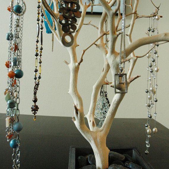 Bijoux naturels arbre 24/ organisateur bijoux par heartnotincluded