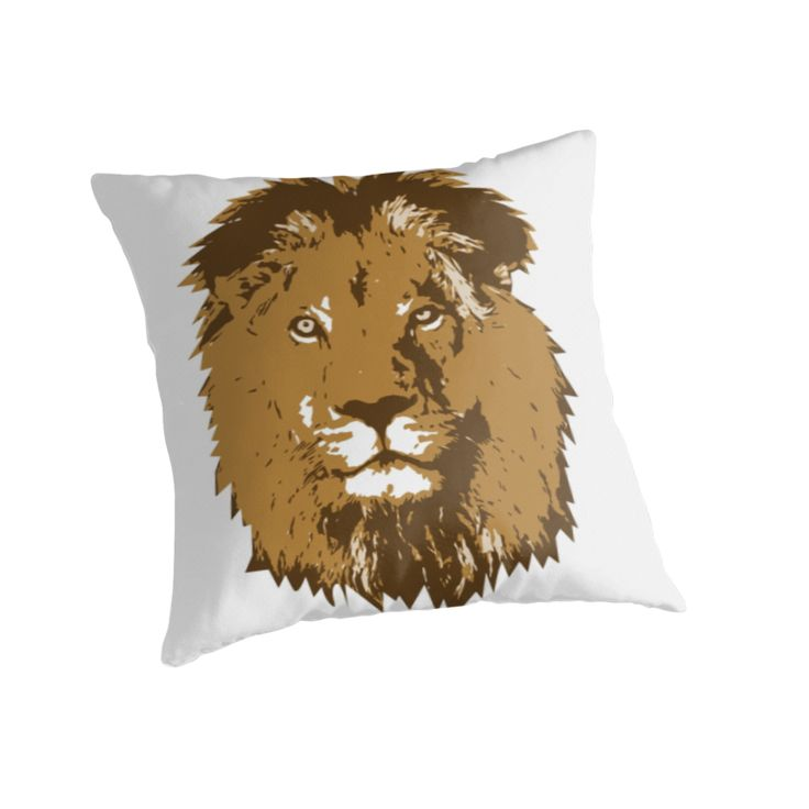 """Lion"" Throw Pillows by Stock Image Folio | Redbubble"