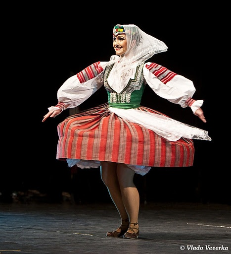 A folk costume of Slovakia.