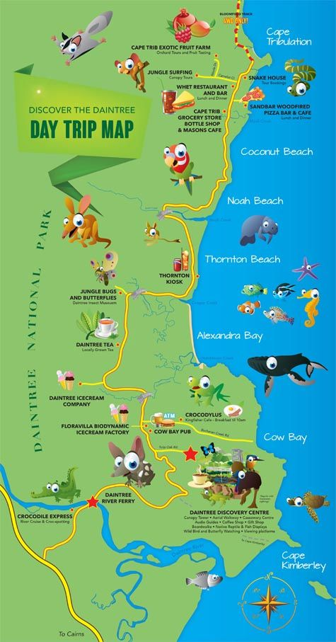 Cape Tribulation Map
