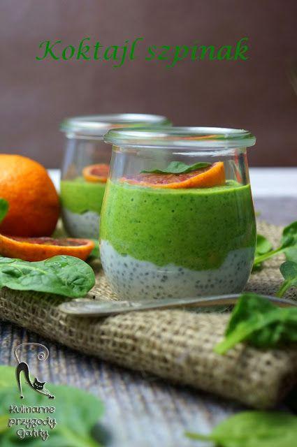 Kulinarne przygody Gatity: Koktajl ze szpinakiem i nasionkami chia