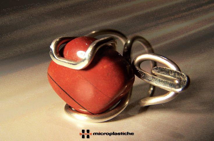 Anello in Diaspro Rosso e Argento di TraLeMappe su Etsy