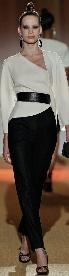 @roressclothes clothing ideas #women fashion white top, black skirt