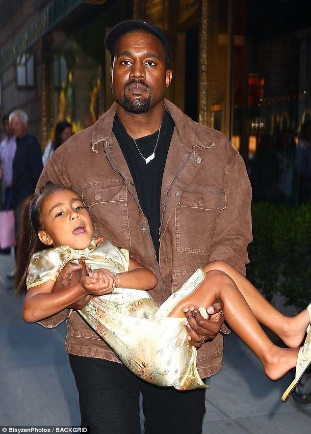 540226c2dcab7 I ll cry if I want to  Kanye was spotted carrying the apparently unhappy  five-year-old birthday girl into the upscale eatery