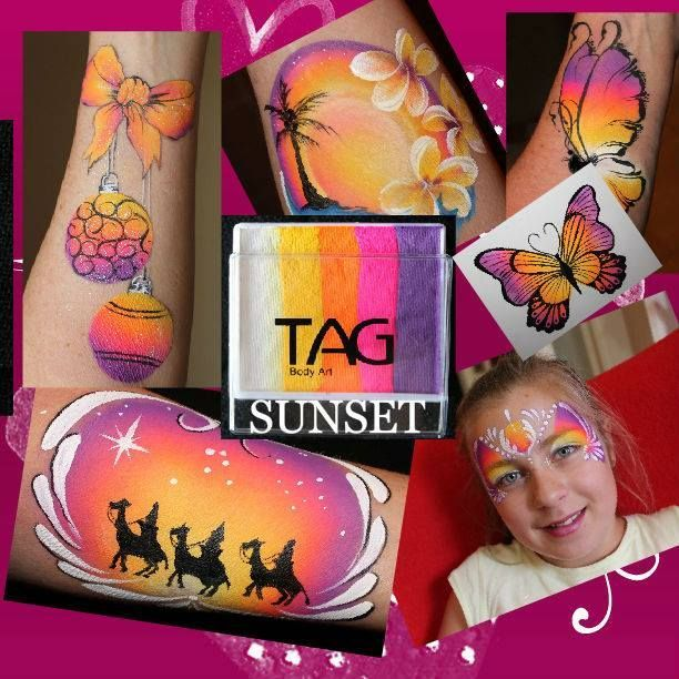 TAG sunset facepaint ideas | A face paint: arm/cheek | Pinterest ...