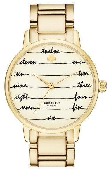 kate spade new york 'time on wire' bracelet watch, 34mm available at #Nordstrom