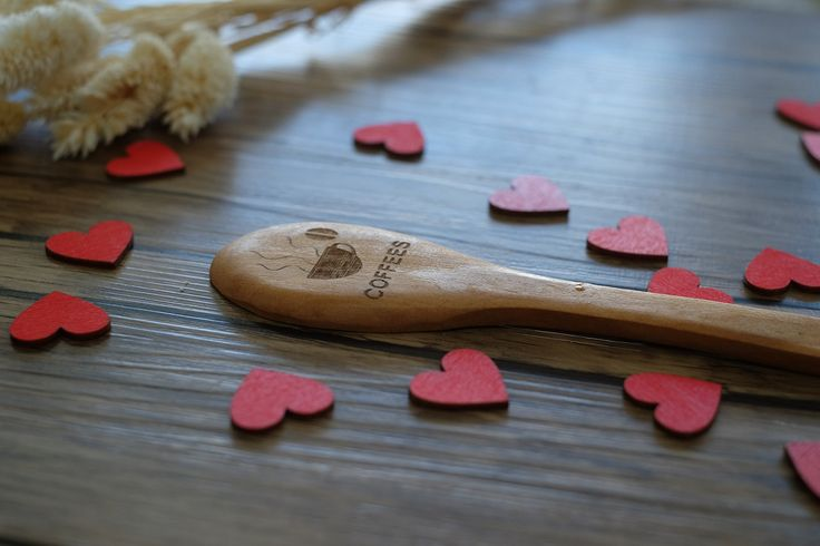 Chic Rustic Engraved Wodden Spoons Coffee Cooking Collectible Wood Spoon Unique Gifts for Friends Valentines Day Gifts for Girls. Made to order and completely custom to meet your needs about the hearts guest size,color and quantity,just contact us freely.