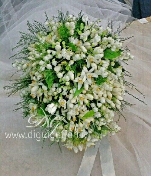 Bouquet mughetto e fiori d'arancio