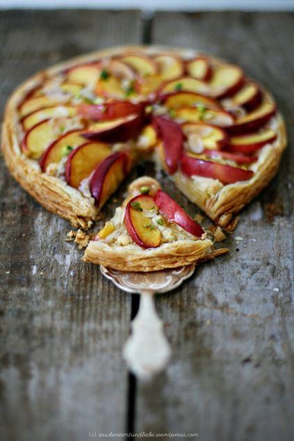 ::nectarine frangipane tart
