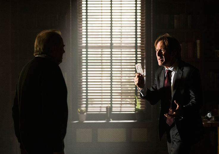 Chuck McGill (Michael McKean) and Jimmy McGill (Bob Odenkirk) in Episode 2 Photo by Michele K. Short/Sony Pictures Television/AMC