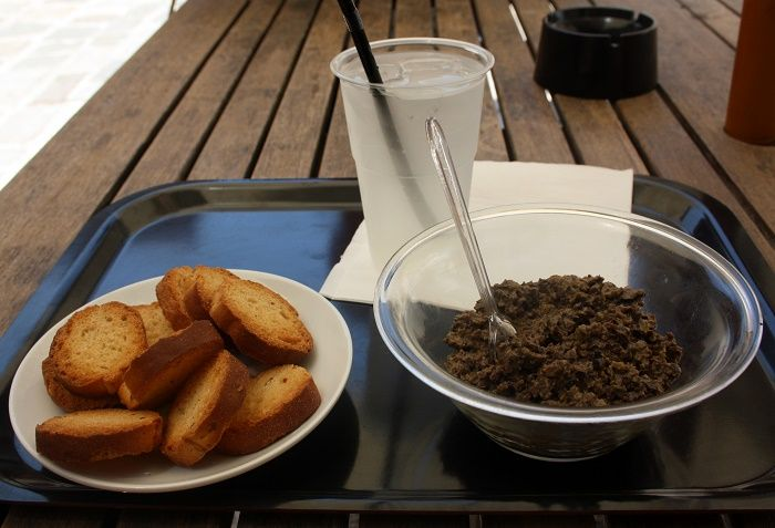 Green olive tapenade - delicious local produce of Marseille