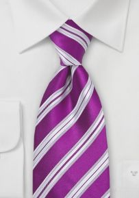 Mens Tie in Sangria Purple