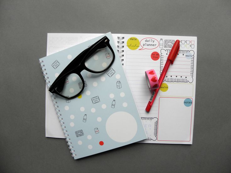 Daily Planner Notebook, A5 Spiral Notebook with 50 Sheets