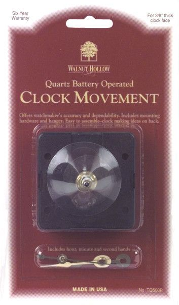 Mini Clock Movement w/Hands And Sweep Hand