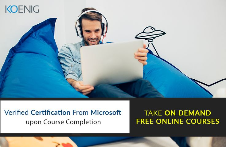 Opportunity to study Microsoft courses at your pace and acquire certificates from Microsoft. Click for details and register for free http://bit.ly/2qmdZpZ  Koenig Solutions #Elearning #MicrosoftTraining #MicrosoftCertification http://bit.ly/1PGcPYk