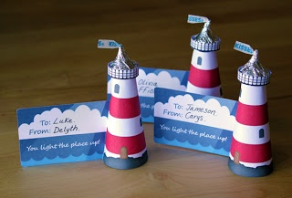 Filth Wizardry: Hershey's Kiss Lighthouse Valentines