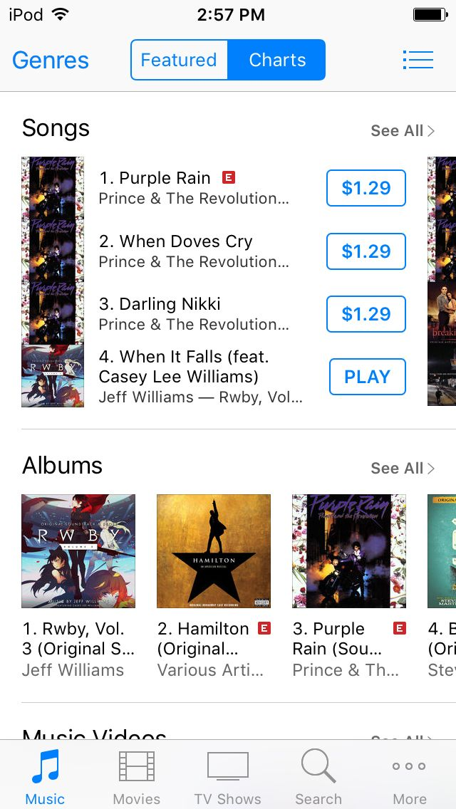 RWBY VOLUME 3 soundtrack is out and is the number #1 on the U.S. itunes store for Soundtracks!!