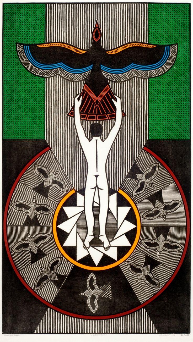 Gilvan José de Meira Lins Samico | Ascensão, 2004 | Xilogravura ed 40/120 | 93,2 x 53,5 cm | Foto: João Liberato.