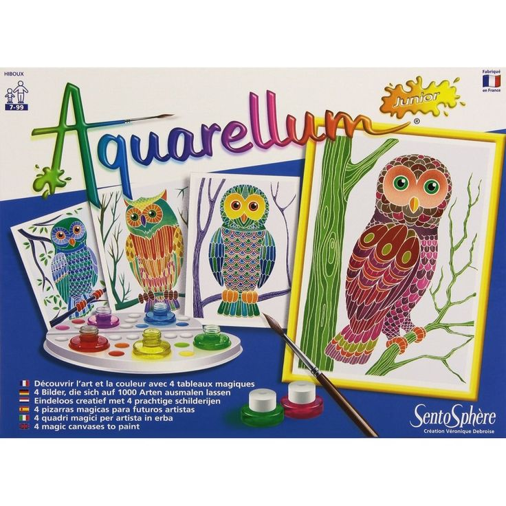 Sentosphère - Aquarellum - Hiboux - Gufi - Disegno & Art Therapy - lalberoazzurro.net