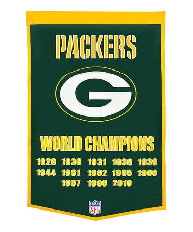 Love this Green Bay Packers Banner on #zulily! #zulilyfinds