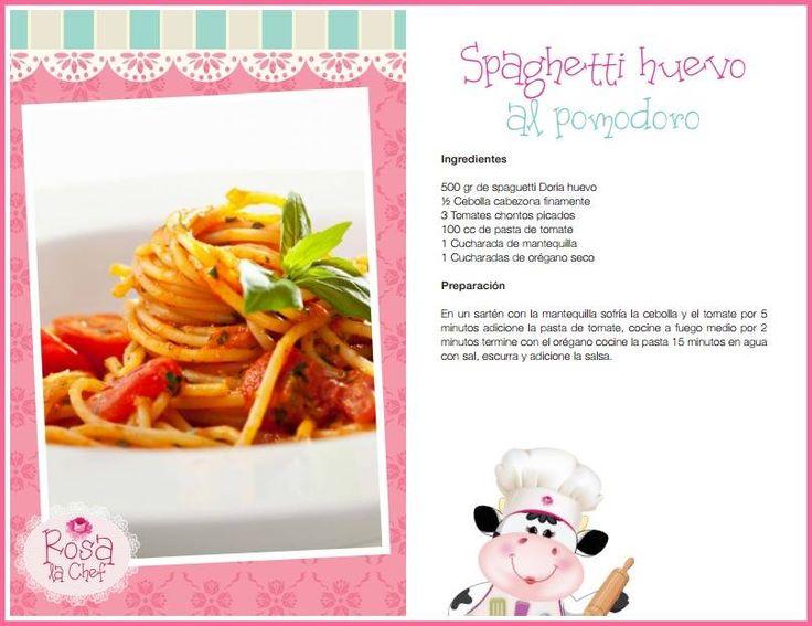 Spaghetti Huevo al pomodoro.